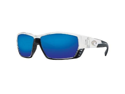 Costa Del Mar Tuna Alley Sunglasses - Crystal Frame - Blue Mirror 580G Lens by Costa Del Mar