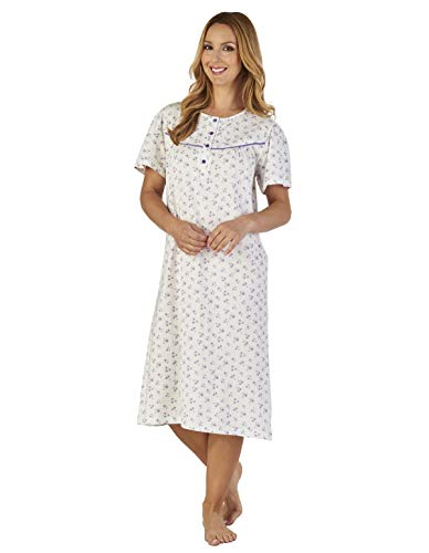 Nightdress Nd2110 Ground Floral Women's Gown Jersey Lilac Loungewear Night Slenderella A8x6qF6