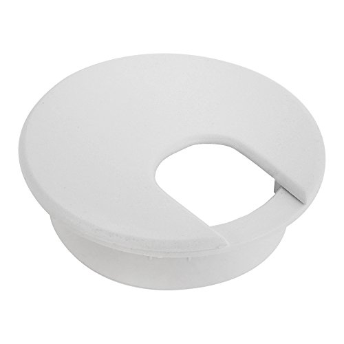HomeDone Desk Grommet 2-Inch White 5-Pack