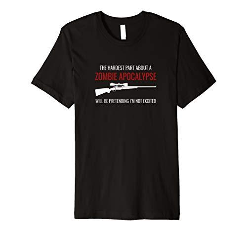 Funny Zombie Apocalypse Zombie Hunter Halloween Premium T-Shirt -