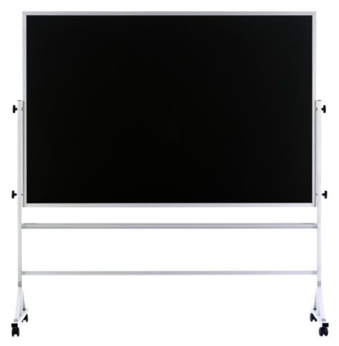 Standard Reversible Mobile Chalkboard in Black (48 in. x 72 in.) by Marsh