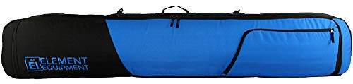 Element Equipment Tour Deluxe Padded Snowboard Bag - Premium High End Travel Bag 157 Solid Blue/Black