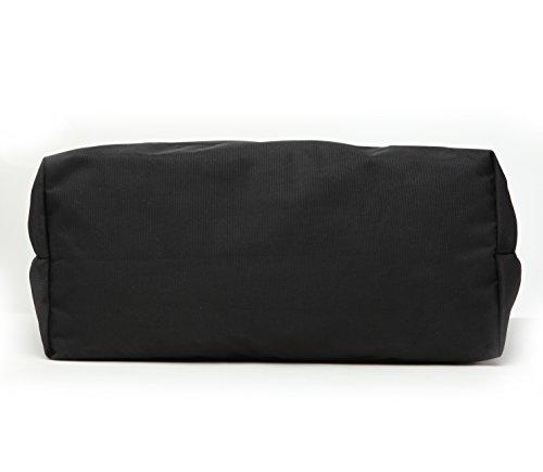 97ab0bfbc61a Karitco Unisex Light-weight Polyester Tote Bag with Zipper (Classic Black)   Handbags  Amazon.com