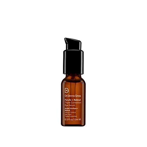 Dr. Dennis Gross Ferulic + Retinol Triple Correction Eye Serum: for Wrinkles, Loss of Elasticity, and Rough Texture, 0.5 fl oz
