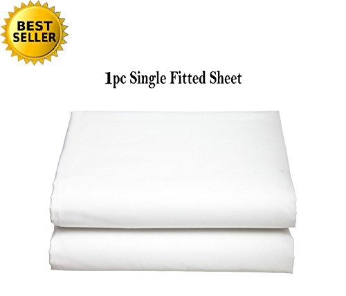 Elegant Comfort Luxury Ultra Soft Single Fitted Sheet Special Treatment Construction Deep Pocket up to 16