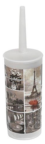 Cafe Paris Bathroom Printed Toilet Bowl Brush Holder good