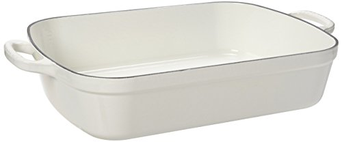 Le Creuset Signature White Enameled Cast Iron 7 Quart Rectangular Roaster