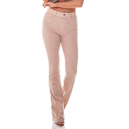 Calça Jeans Feminina Flare Média Colorida - Dz2516-11