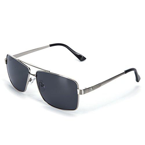 Gray Pilot Sunglasses - 3
