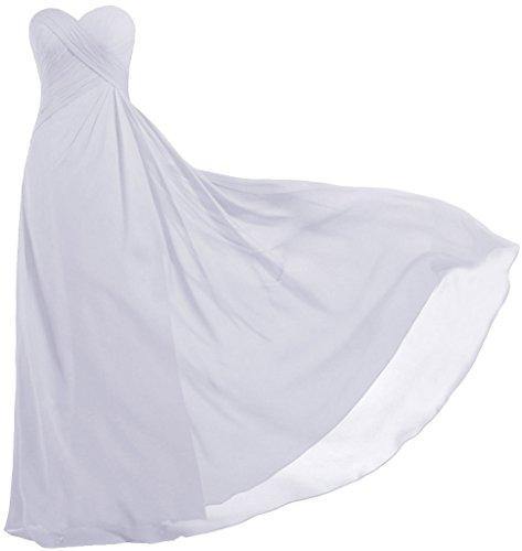 White Strapless Wedding Dresses - ANTS Women's Strapless Long Bridesmaid Dresses Chiffon Wedding Prom Gown Size 16 US White