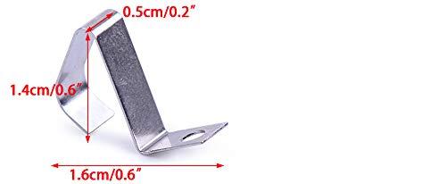 LxWxH 20pcs // pack plaque de contact de ressort de conversion n/égative positive en m/étal ton argent pour AAA taille de la batterie: env 0.6x0.2x0.6 pouce 1.6x0.5x1.4cm