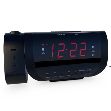 rated best alarm clock radio with time projection usb charger import it all. Black Bedroom Furniture Sets. Home Design Ideas