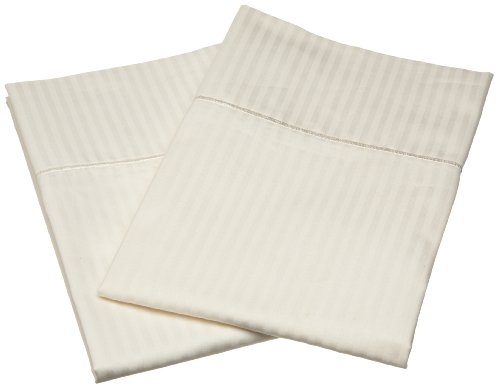 Renaissance Collection 600 Thread-Count Woven Stripe Cotton Standard Pillow Case Set, - Renaissance 600 Collection Thread