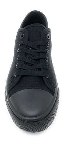 Charles Albert Women's Classic Canvas Lace-Up Low-Top Sneaker
