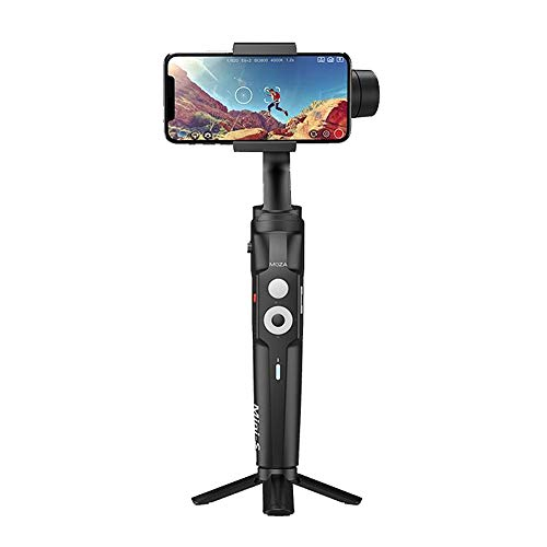 MOZA Mini-S Foldable Extendable 3-Axis Gimbal Stabilizer Smartphone Gimbal Compatible with X 8 7 Plus 6 Plus with Quick Platback,One-Button Zoon,Timelapse,Objecti Tracking,Inception Mode Fucntion
