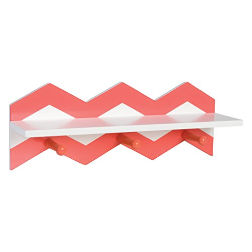 Coral Wall (Trend Lab Chevron Wall Shelf, Coral)
