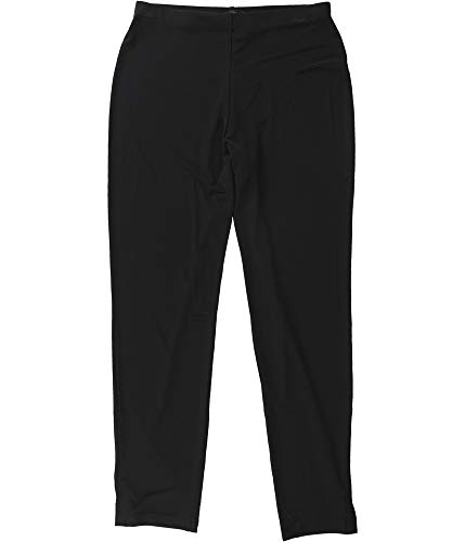 Alfani Womens Slim Leg Flat Front High-Waist Pants Black L from Alfani