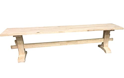 Unfinished Trestle Bench
