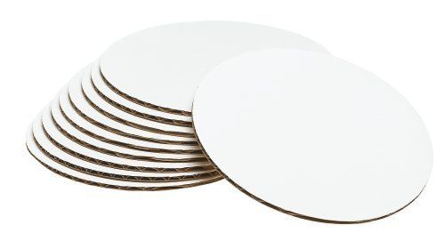 Cake Board Circle-, Sturdy White Corrugated Cardboard, 100% Food Safe (7