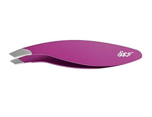 Slice 10447 Slanted Tweezer, Extra Wide Grip, Easy To Use for Normal & Course Hair or Splinter, ()