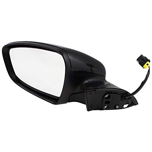 (Brock Power Side View Mirror Heated Drivers Manual Folding Assembly fits 17-18 Kia Forte & Forte5 replaces 87610B0000 KI1320213)