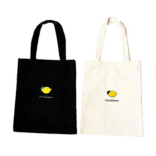 Mensajero Mujer Bolsos Hombro de de Carrier Tote Serie Mujer Bag de Lienzo algodón Bolsas de J Mujer Bulary de Tote Frutas Shopping Impresión Estilo Shopping Capacidad Preppy Solo Lona Grande RvSq5f