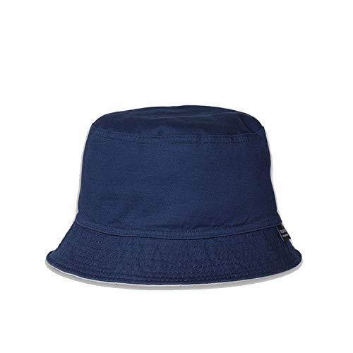 (Sunscreen Men Women Bucket Hat Caps Summer Autumn Solid Color Fisherman Cotton Simple Hats Navy)