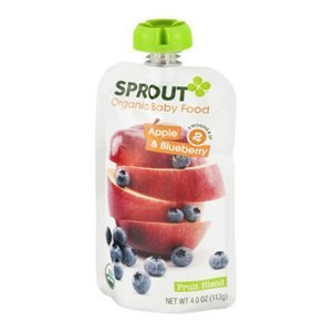 Organic Apple and Blueberry Baby Food 4 Ounces (Case of 10) by Sprout Food