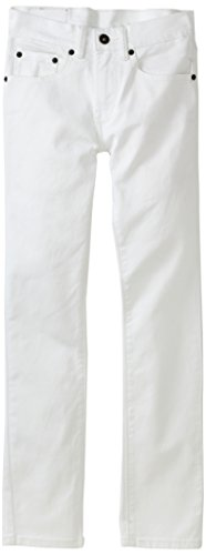 (Levi's Boys' Big 510 Skinny Fit Jeans, White, 14)