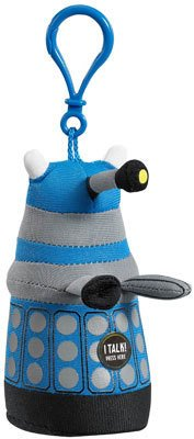 Doctor Who Small Blue Dalek - Talking Clip On Plush