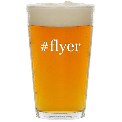 (#flyer - Glass Hashtag 16oz Beer Pint)