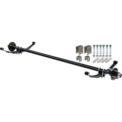 Ultra-Tow 2000-Lb. Capacity Complete Axle Kit - 67in. Hubface, 55in. Spring Center, 4-Bolt Pattern, 4in. Hubs by Ultra-Tow