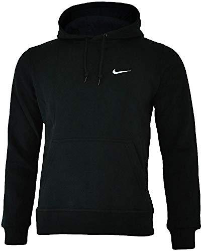 40222ee3035f Galleon - Nike Mens Classic Club Swoosh Pullover Hoodie-Black-Large