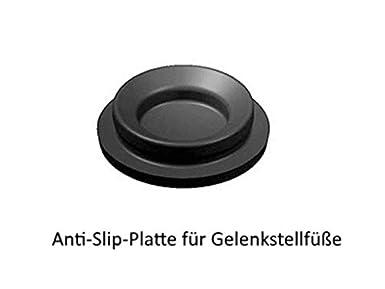 Gelenkfu/ß Reihe 10 PA M5X20 Gewindestange Teller 20mm mit Kugel 10mm Schl/üsselweite 10