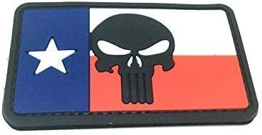Texas Drapeau Punisher Airsoft Moral PVC Patch