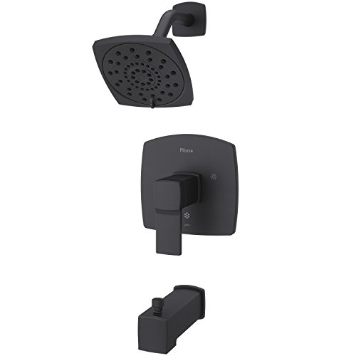 (Pfister LG89-8DAB Deckard Tub and Shower Trim, Matte Black)