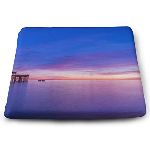 Osvbs Brighton Pier Sunset Wallpaper Pattern Square Decorative Cushion Sofa Printing Cushion 1.2