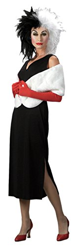[Disguise Womens Disney Cruella Devil Theme Party Fancy Dress Halloween Costume, One Size (Up To 16)] (Cheap Ladies Devil Costume)