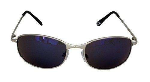 PANTALONES azules plateado Marco Foster 2 metal de 100 CAT para de FG122 para negro Grant Gafas UV400 STEM10515 sol UV rectangulares brazos protección lentes espejos y redondeadas hombres Rwf5wT