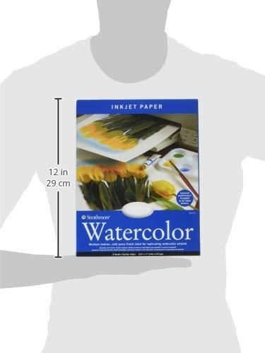 Strathmore 59-771 Watercolor Inkjet Paper 8.5x11 8 Sheets