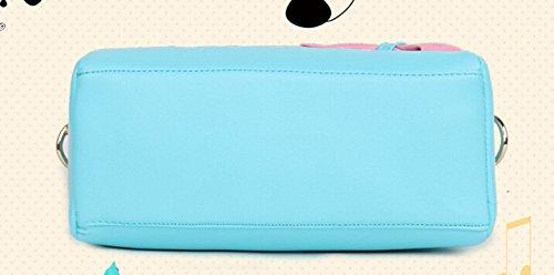 Bolso de las mujeres, bolso de hombro del totalizador del mensajero del totalizador de la PU de las muchachas de la manera del diseño nuevo (azul)