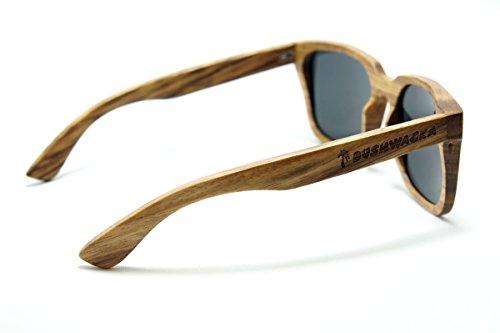 Nuevo Bushwacka Playa-Flamenca Gafas de sol de madera hechas a mano polarizadas. Gafas de sol Tiger madera Gafas de sol de madera: Amazon.es: Deportes y ...