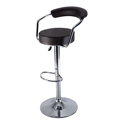 Costway Adjustable Counter Leather Barstools
