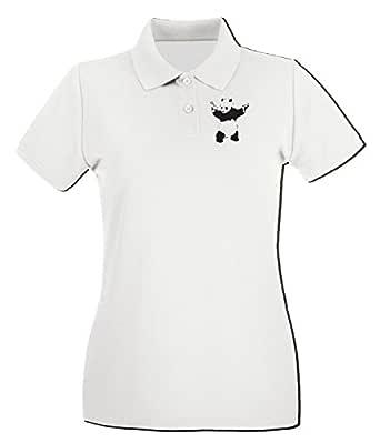 T-Shirtshock - Polo para mujer FUN0692 banksy panda wht mens cu (2 ...