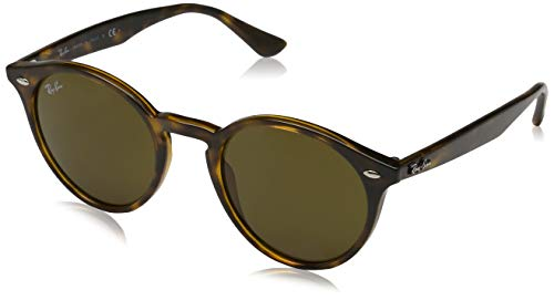 Ray-Ban Women's Highstreet Round Sunglasses, Havana Dark/Brown Dark, One ()