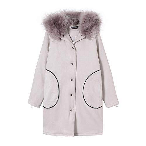 Veste Couple Et Manteau Coton Chapeau Cadeau Modèles Blanc En Long Manteaux Avec Hommes Épais Femmes Blousons 4Oqtt
