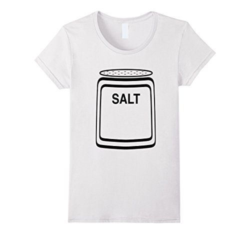 Womens Salt Shaker Halloween Costume T-Shirt for Couples Medium (White Tee Shirt Halloween Costumes)