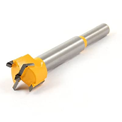 uxcell Carbide Tip 19mm Dia Wood Cutting Hinge Boring Bit Yellow for Woodworker