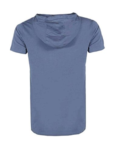 URBAN SURFACE Männer Herren T-Shirt Kapuze Kapuzenshirt middle blue mel.