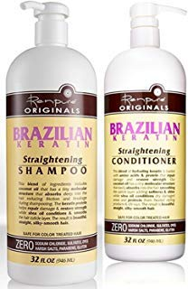 Renpure Originals Brazilian Keratin Straightening Shampoo And Conditioner Set 32 Oz